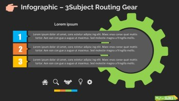 Infographic Slide 3Subject Routing Gear Dark