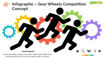 Infographic Slide Gear Wheels Competition Concept