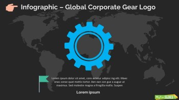 Infographic Slide Global Corporate Gear Logo Dark