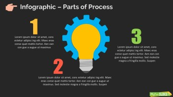 Infographic Slide Part of Process Dark