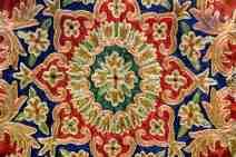 Closeup Of A Persian Rug Background Texture
