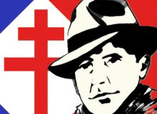 MyFrenchLife™ - MyFrenchLife.org - Jean Moulin - French Resistance - World War Two - French History - Charles de Gaulle - Poster