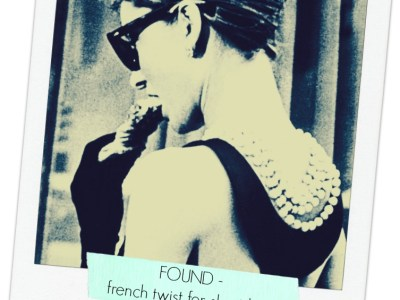 found - french twist for short hair