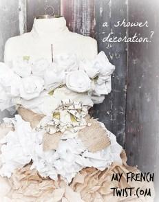 tissue paper wedding dress