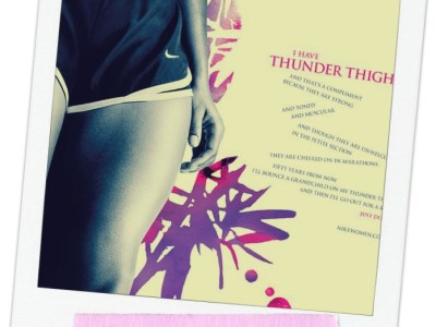 beauty of thunder thighs - my french twist