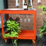 upcycled bar cart