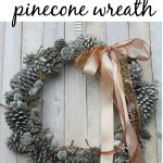 looking glass pinecone wreath