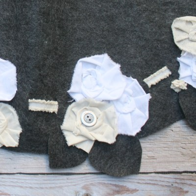 fabric flowers with myfrenchtwist.com