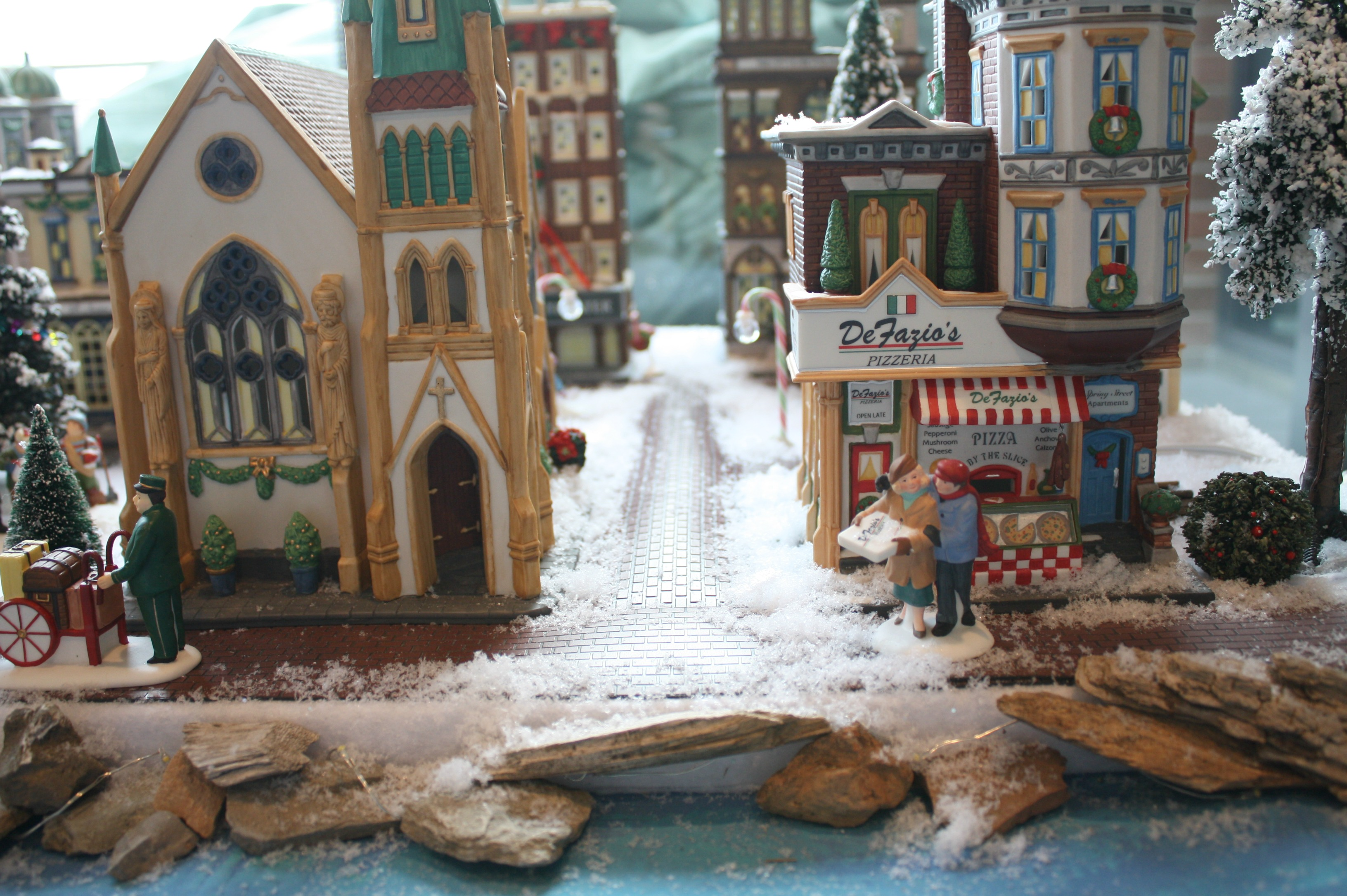 christmas village with myfrenchtwistcom