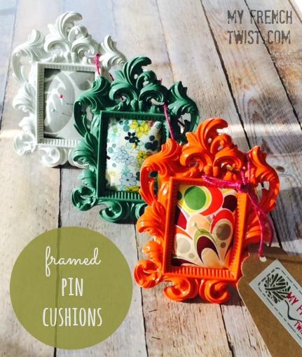 framed pin cushions - myfrenchtwist.com