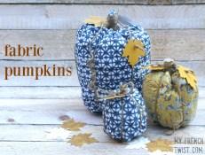 fabric pumpkins - myfrenchtwist.com