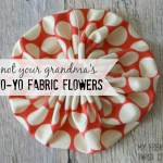 yo yo fabric flowers