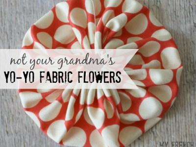 yo yo fabric flower - myfrenchtwist.com
