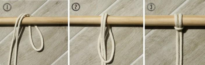 larks head knot - myfrenchtwist.com