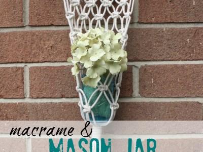 macrame mason jar planter - myfrenchtwist.com