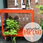 upcycled bar cart