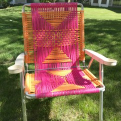 Macrame Lawn Chair Round Dining Chairs Tutorial My French Twist