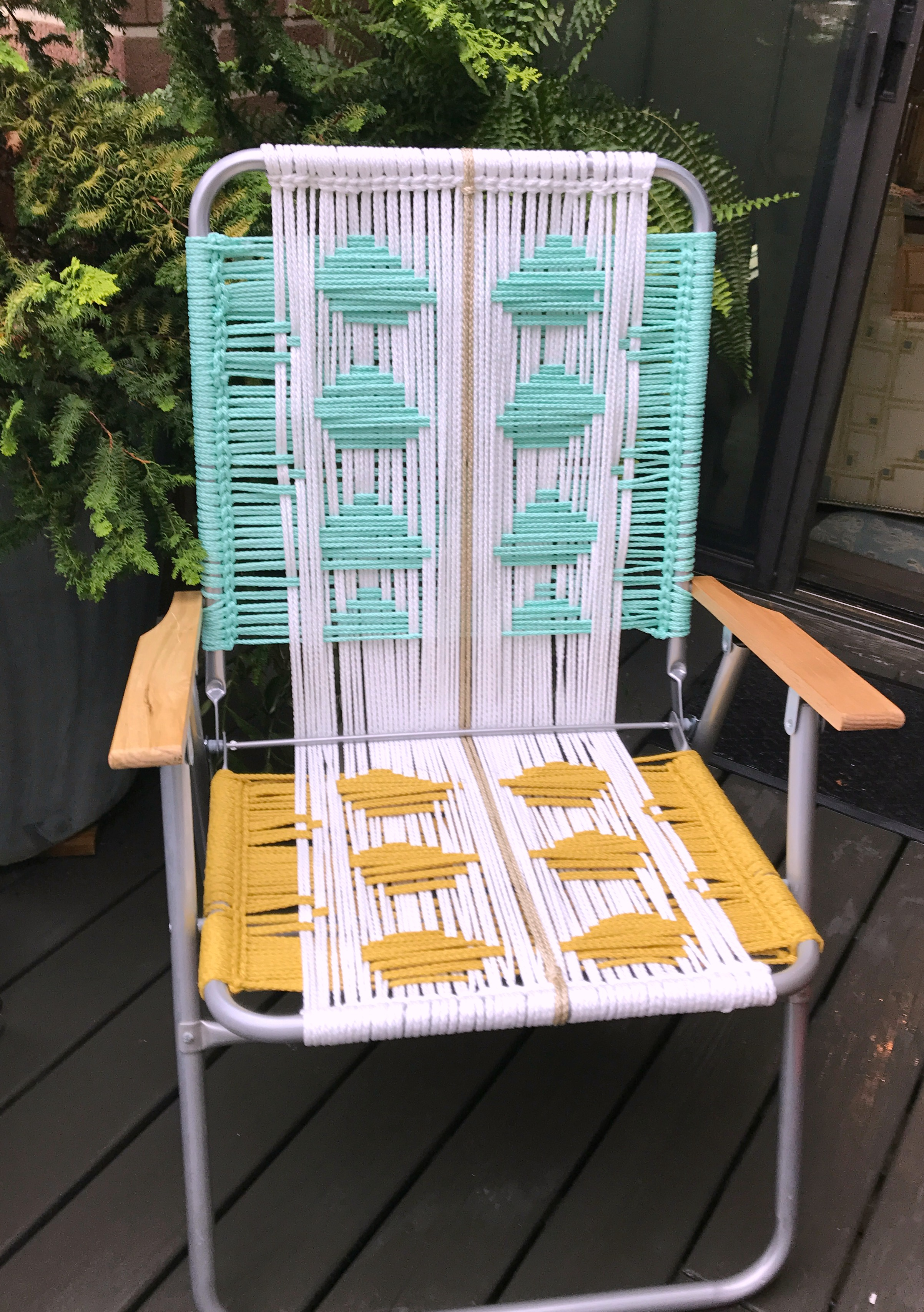 macrame lawn chair black covers tutorial my french twist