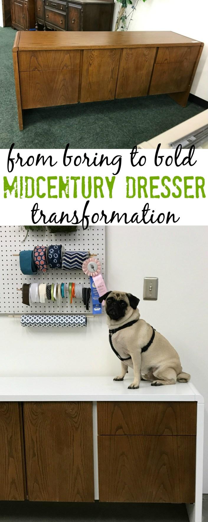 midcentury dresser makeover - myfrenchtwist.com