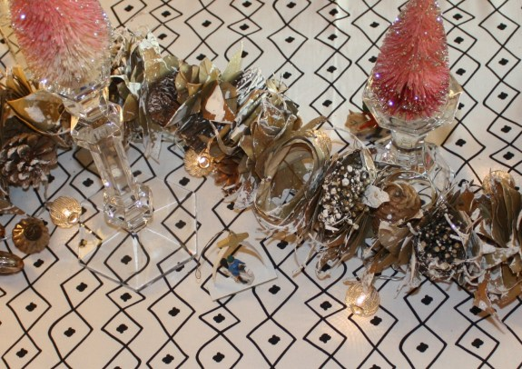 scandi christmas table garland