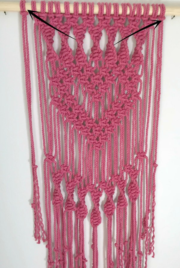 Macrame Heart Wall Hanging My French Twist