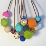 wooden bead key chains & necklaces