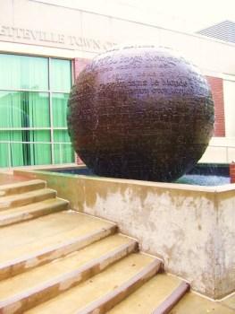 Fayetteville sculpture fountain