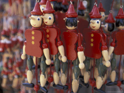 Italian Pinocchio puppets
