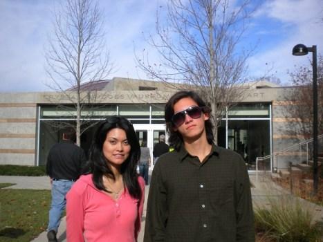 Rosie and Gideon at Crystal Bridges