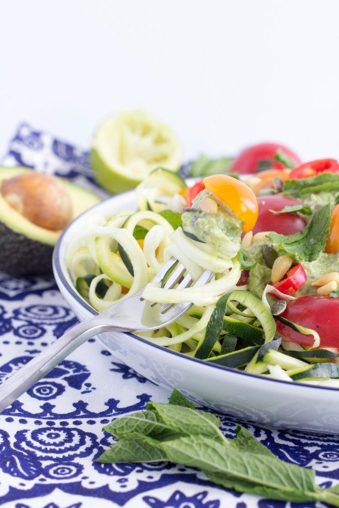 Healthy and  Simple raw zoodles a great alternative to pasta 1