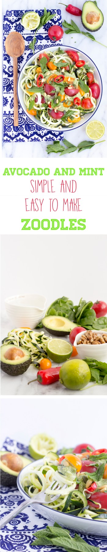 Healthy and  Simple raw zoodles a great alternative to pasta PINTEREST 1
