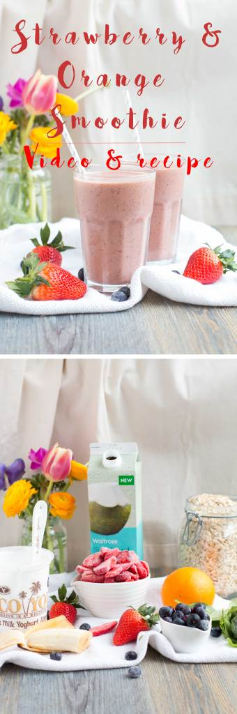 Orange-and-Strawberry-Smoothie-Simple-and-easy-to-make-vegan-smoothie-receipe