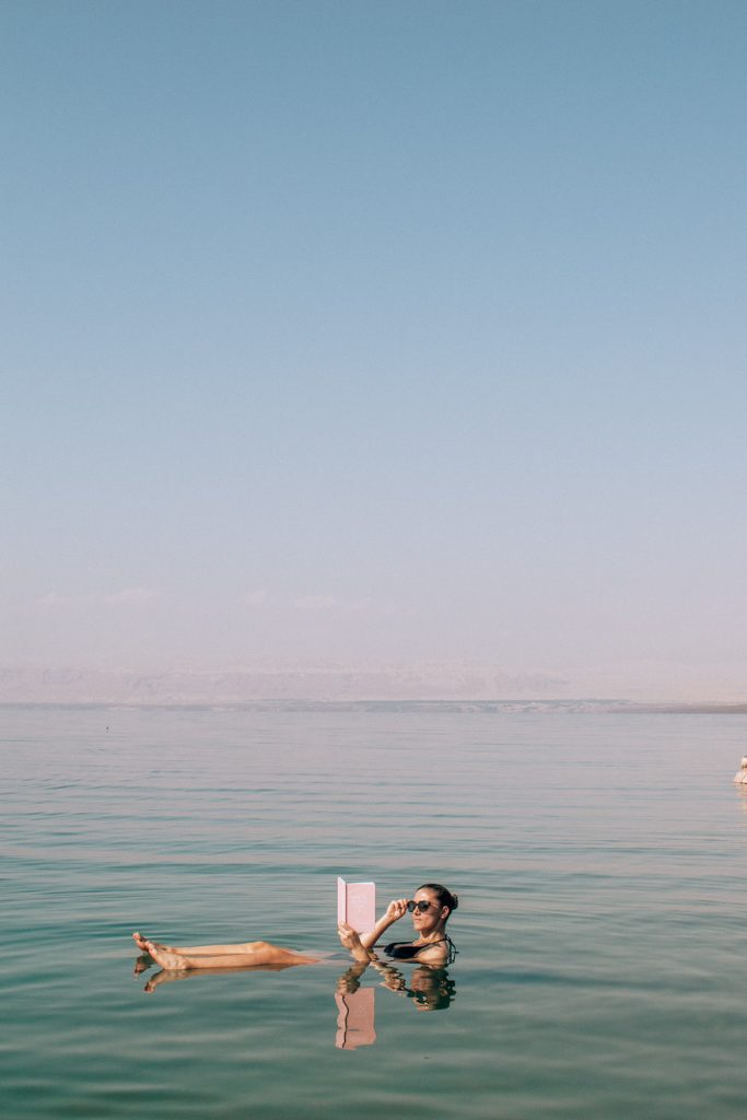 Floating in the Dead Sea is funny experience