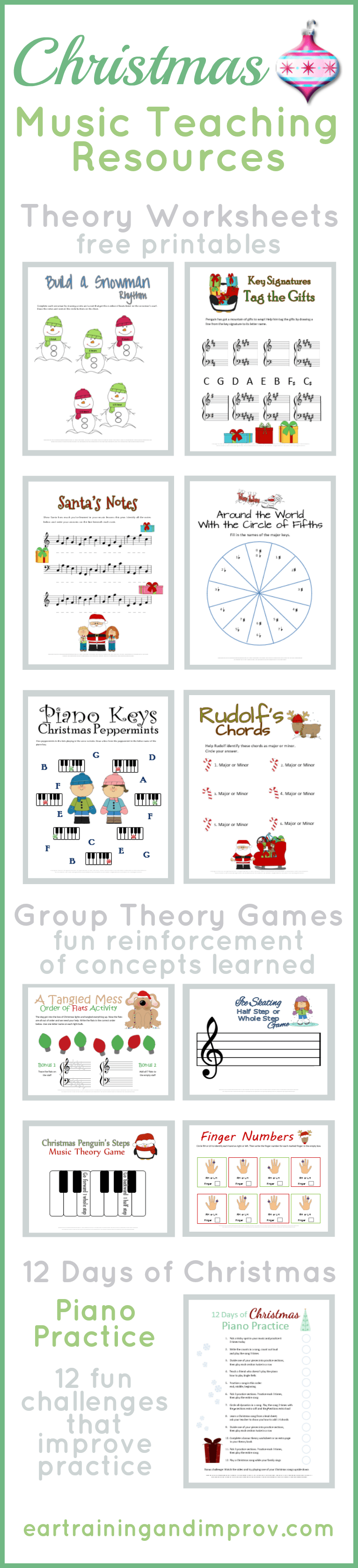 christmas music theory worksheets