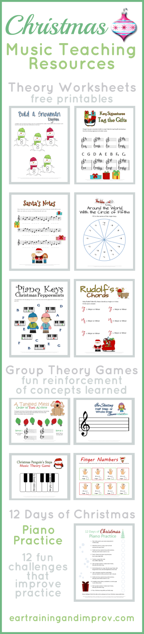 small resolution of Christmas Music Theory Worksheets - 20+ Free Printables
