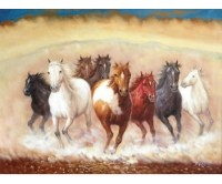 WILD HORSES HAND PAINTED OIL PAINTING