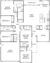 Lennar Multi-Generational Homes Floor Plans