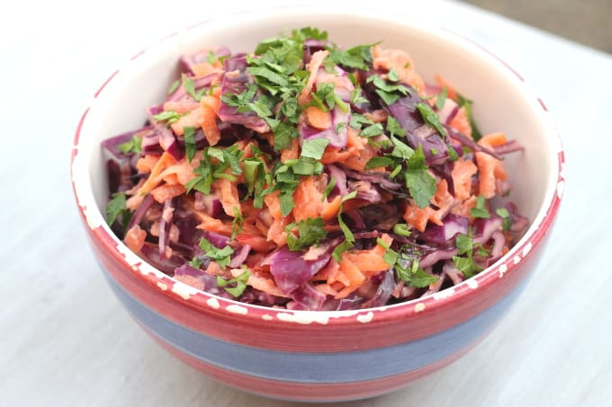 red cabbage coleslaw | www.myfussyeater.com