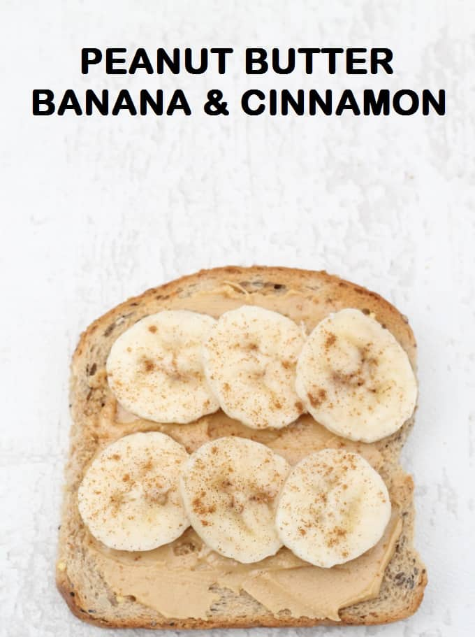 peanut butter banana and cinnamon