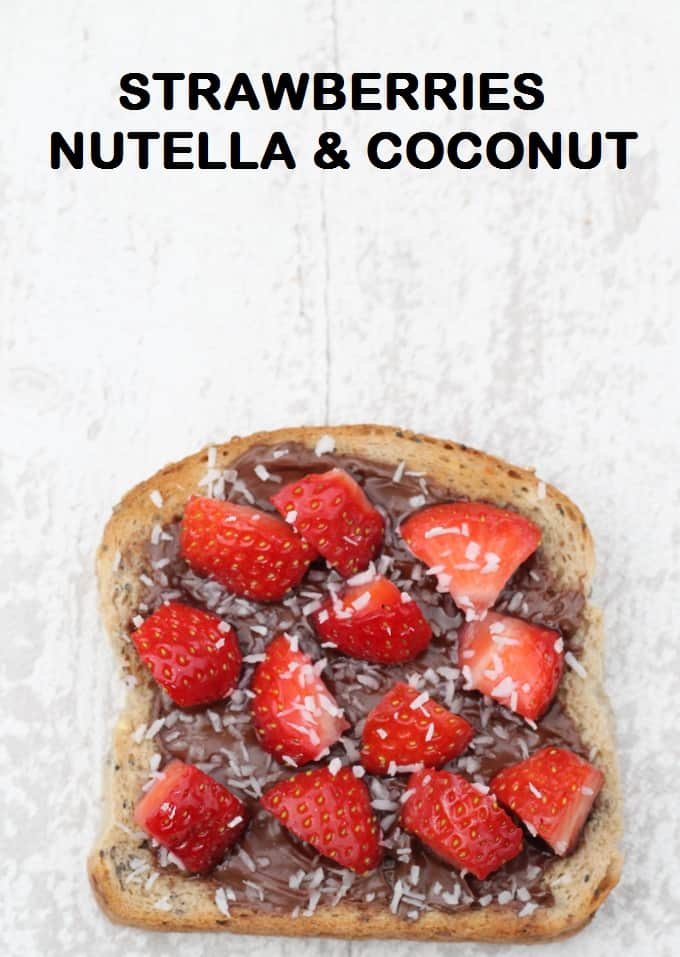 nutella strawberry toast
