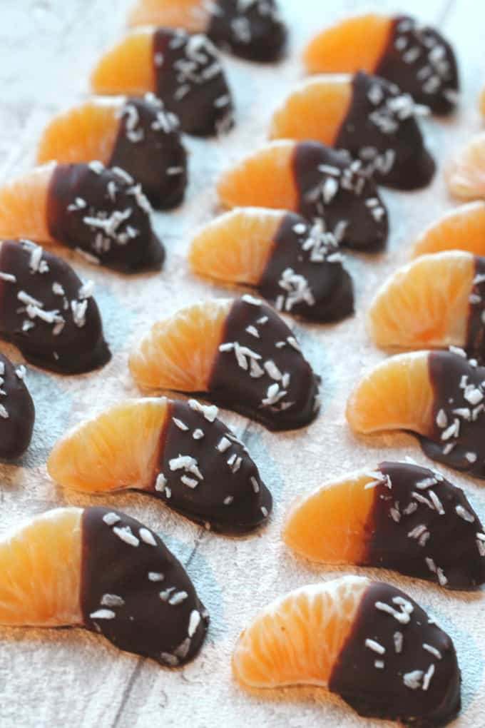 chocolate coated satsumas