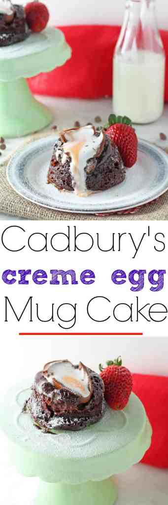 Cadbury's Creme Egg Chocolate Mug Cake | My Fussy Eater Blog