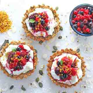 Granola Crust Breakfast Tarts with Yogurt & Berries
