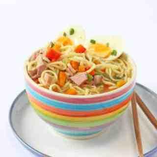 Ham & Egg Noodle Soup