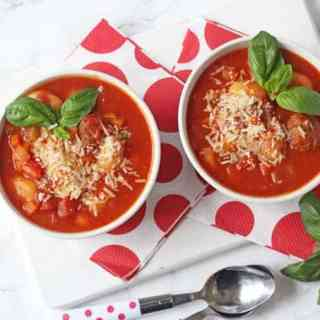 Slow Cooker Italian Meatball & Gnocchi Soup