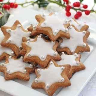 Healthier Gingerbread Star Cookies