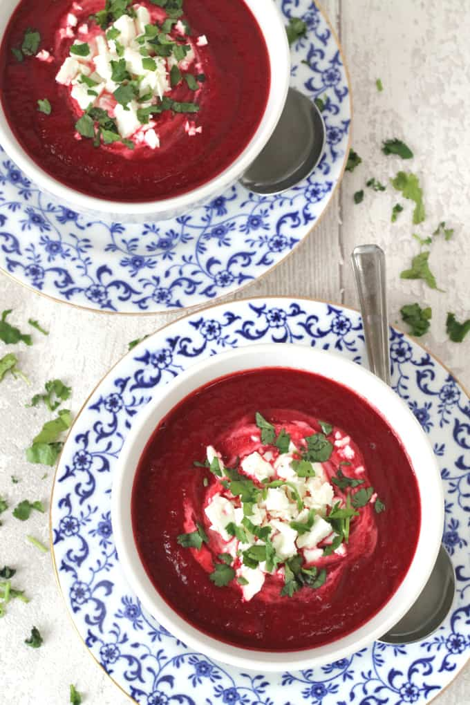 Beetroot, Carrot & Feta Soup