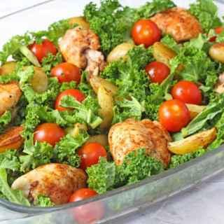 Cajun Chicken, Potato & Kale Traybake