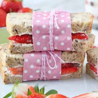 Strawberry Cream Cheese Sandwich