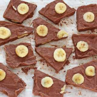 Chocolate Banana Frozen Yogurt Bark